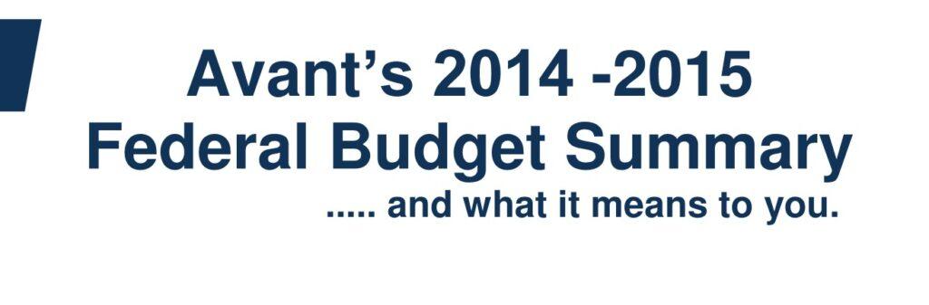 2015 Federal Budget